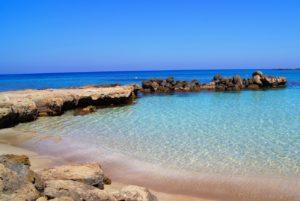 Пляж песок прозрачная вода