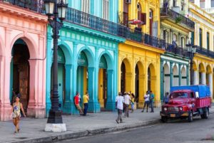 Разноцветные здания Гаваны