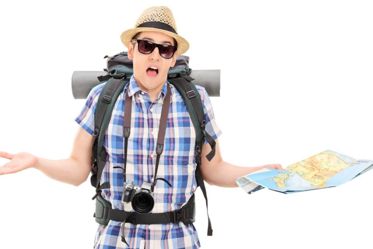 Турист с картой